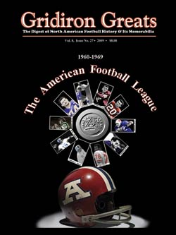 Gridiron Greats Cover Issue 27
